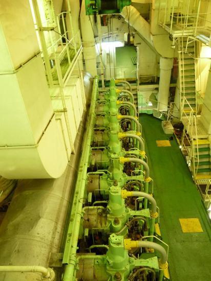 moteur du bateau