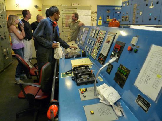 visite bateau salle machines