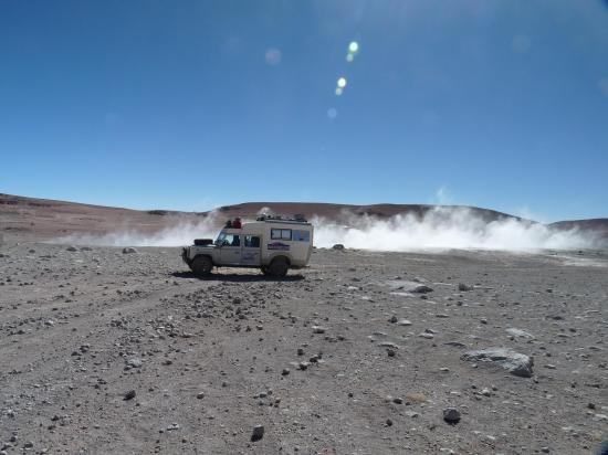 land aux geysers