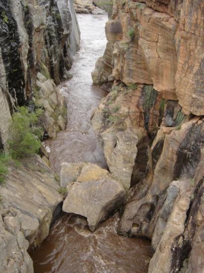 dans le canyon