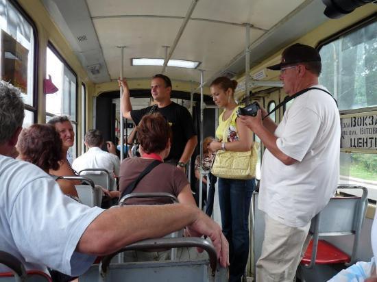 dans un tramway à LVIV
