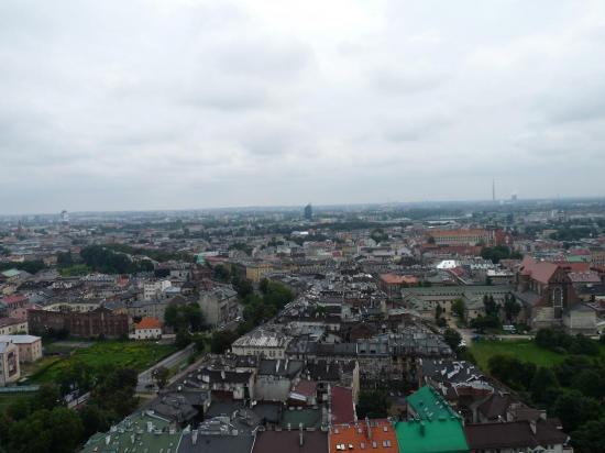 vue de Krakovie depuis le ballon